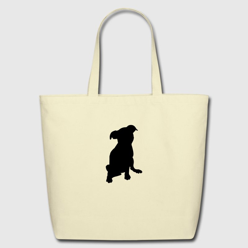 puppy silhouette - Eco-Friendly Cotton Tote