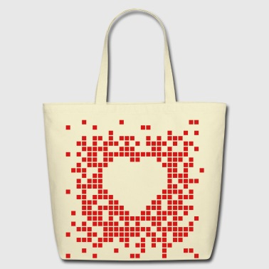 Pixel-heart Pixel Heart - Eco-Friendly Cotton Tote