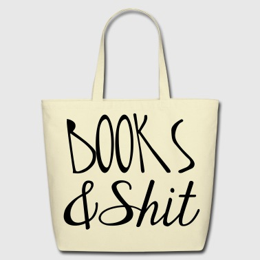 Books and Shit Tote - Eco-Friendly Cotton Tote