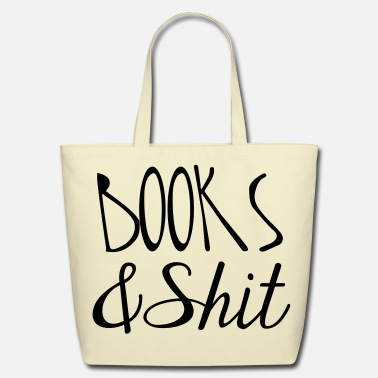 Shit Books and Shit Tote - Eco-Friendly Tote Bag