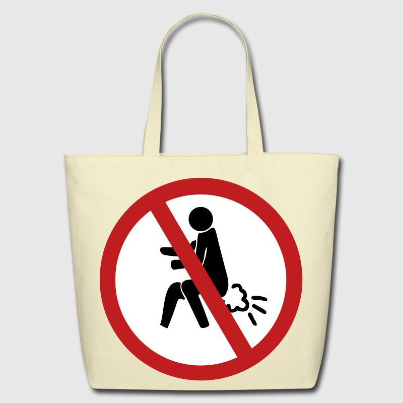 Funny NO Farting Thai Sign - Eco-Friendly Cotton Tote
