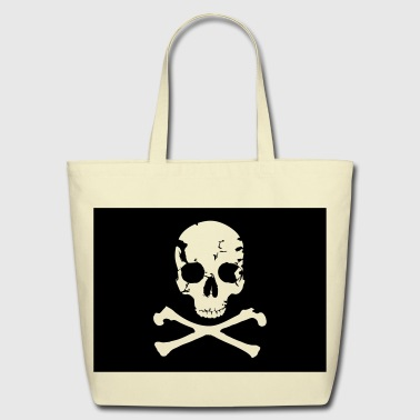 Pirate, Pirat Flag - Eco-Friendly Cotton Tote