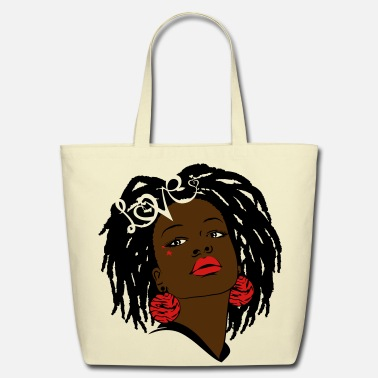 African American SunShine's Locks of Love - Eco-Friendly Cotton Tote