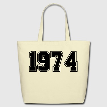 1974 | Birth Year | Year of Birth | Birthday - Eco-Friendly Cotton Tote