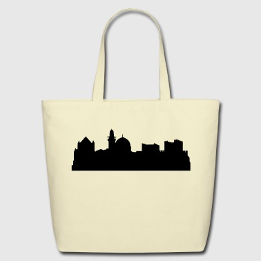 Jerusalem silhouette - Eco-Friendly Cotton Tote