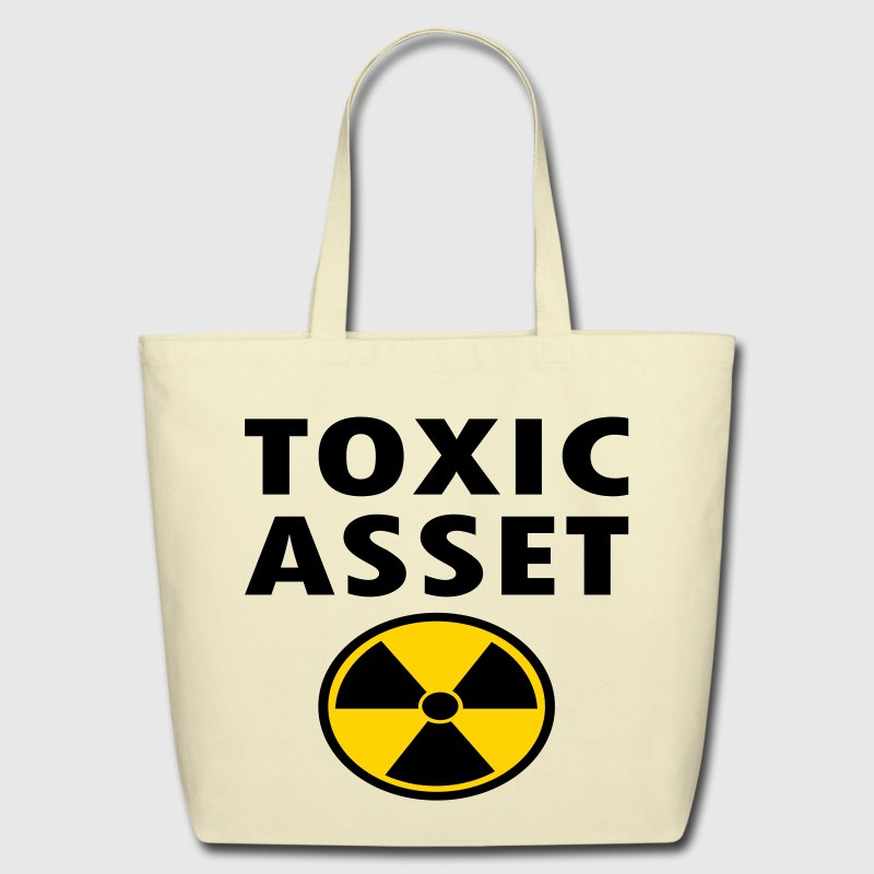 Toxic Asset With Hazardous Waste Symbol - Eco-Friendly Cotton Tote