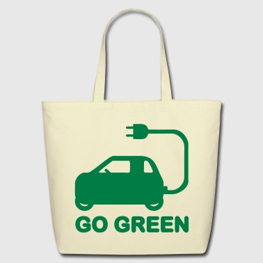 Drive Go By Car GO GREEN ~ DRIVE ELECTRIC VEHICLES - Eco-Friendly Cotton Tote