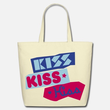 Kiss Kiss Kiss Kiss - Eco-Friendly Cotton Tote