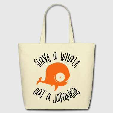 Save Whales - Eco-Friendly Cotton Tote
