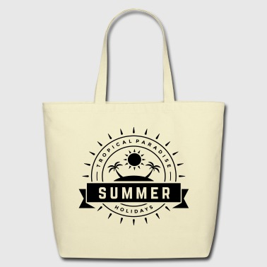 Summertime Tropical Paradise Summer Holidays - Eco-Friendly Cotton Tote
