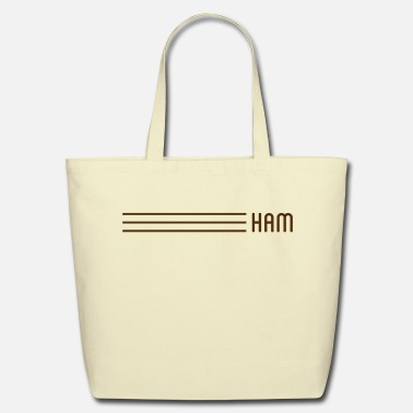 Ham Stripes Eco-Friendly Cotton Tote - Eco-Friendly Cotton Tote