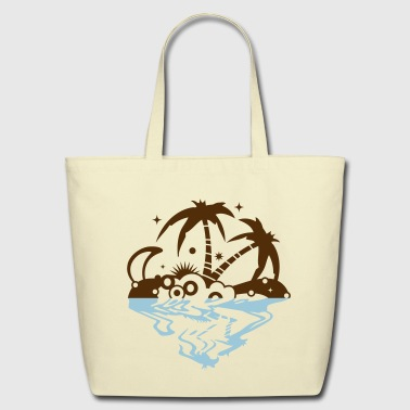 An island in the sea - Eco-Friendly Cotton Tote
