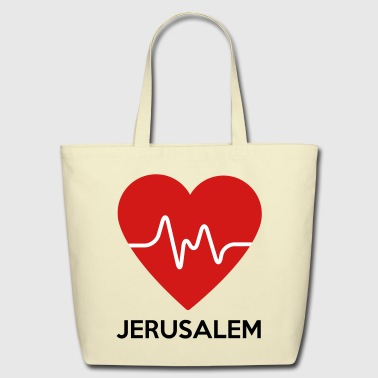 Heart Jerusalem - Eco-Friendly Cotton Tote