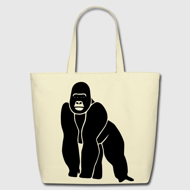 gorilla ape monkey king kong godzilla silver back orang utan - Eco-Friendly Cotton Tote