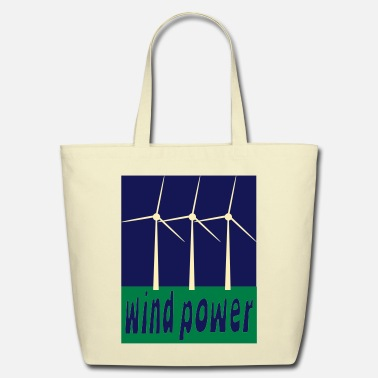 Wind Wind Power With Wind Turbines - Eco-Friendly Cotton Tote