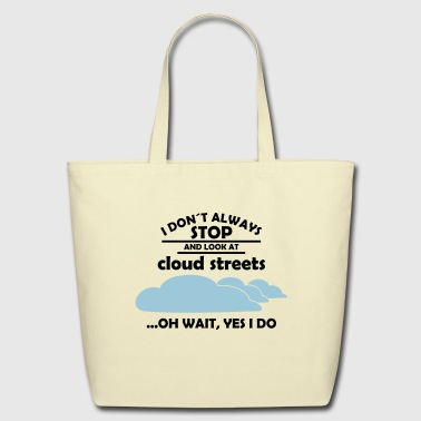 glider pilot cloud streets - Eco-Friendly Cotton Tote
