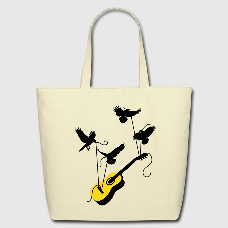 Guitar Birds - Eco-Friendly Cotton Tote