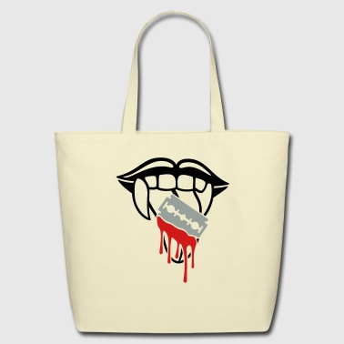 Razor blade bloody tongue - Eco-Friendly Cotton Tote
