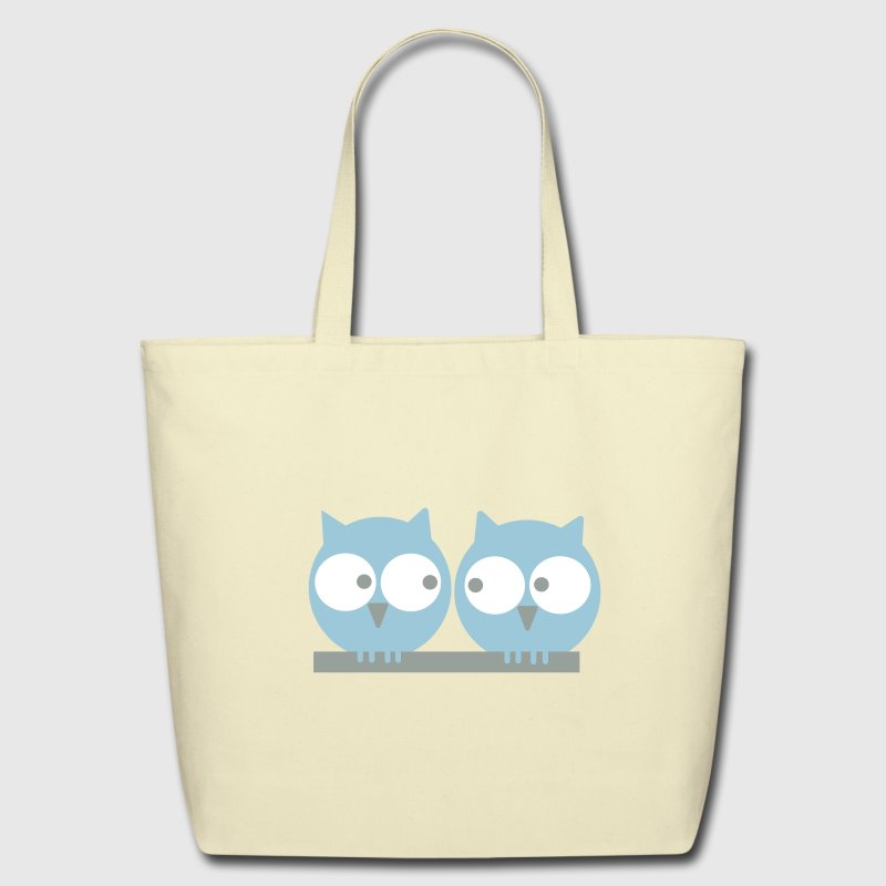 Two owls - Eco-Friendly Cotton Tote