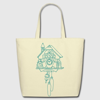 Kuckuck clock from the Black Forest - Eco-Friendly Cotton Tote