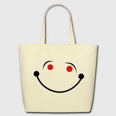 smiling smiley face big smile - Eco-Friendly Cotton Tote