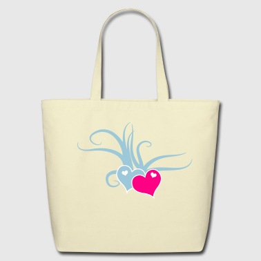 love hearts with whips romance - Eco-Friendly Cotton Tote