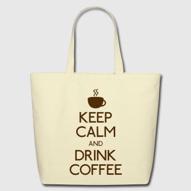 keep calm drink coffee - Eco-Friendly Cotton Tote