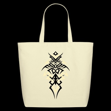 Large jagged Tribal Tattoo ornament. - Eco-Friendly Cotton Tote