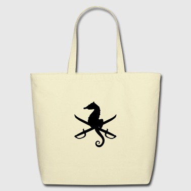 seahorse with swords - Eco-Friendly Cotton Tote