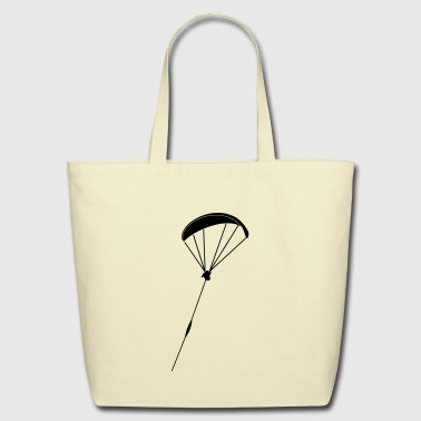 paragliding start - Eco-Friendly Cotton Tote