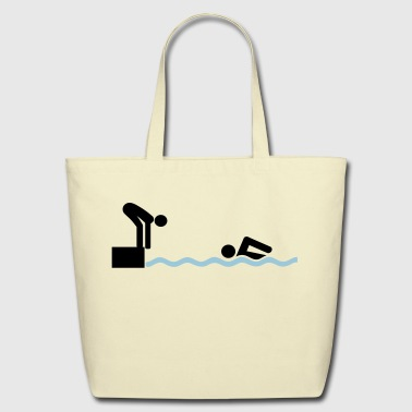 swimming - Eco-Friendly Cotton Tote