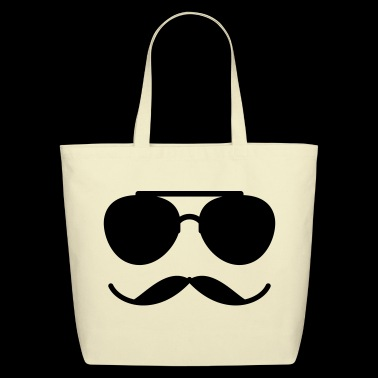 Sunglasses and Mustache - Eco-Friendly Cotton Tote