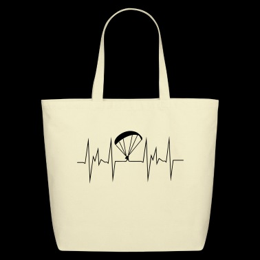 paragliding heartbeat - Eco-Friendly Cotton Tote
