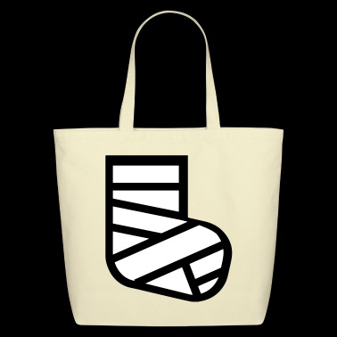 broken leg - Eco-Friendly Cotton Tote