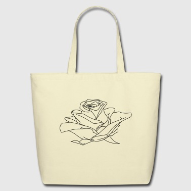 Rose Drawing - Eco-Friendly Cotton Tote