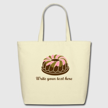 A ring cake with icing - Eco-Friendly Cotton Tote
