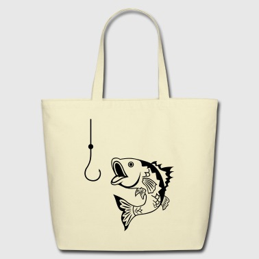Fish - Fishing - Eco-Friendly Cotton Tote