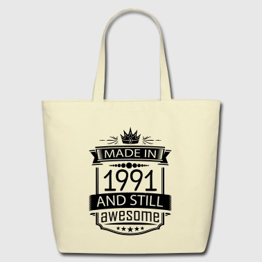 Made In 1991 And Still Awesome - Eco-Friendly Cotton Tote