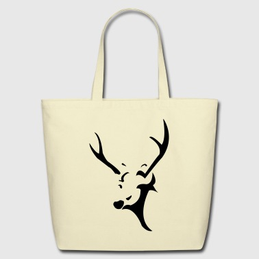 deer head - Eco-Friendly Cotton Tote