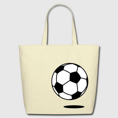 football with shadow 2c  - Eco-Friendly Cotton Tote