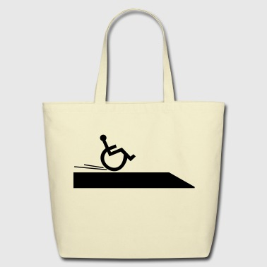 wheelchair,handicapped,cool,fast,break,disabled - Eco-Friendly Cotton Tote