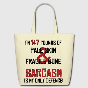 Sarcasm is my only defence - Eco-Friendly Cotton Tote