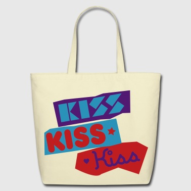 Kiss Kiss Kiss - Eco-Friendly Cotton Tote