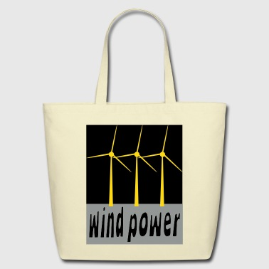 Wind Power With Wind Turbines - Eco-Friendly Cotton Tote