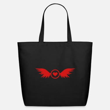 circle heart with wings - Eco-Friendly Tote Bag
