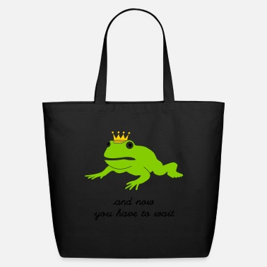 Cool grumpy frog prince - waiting - Eco-Friendly Tote Bag