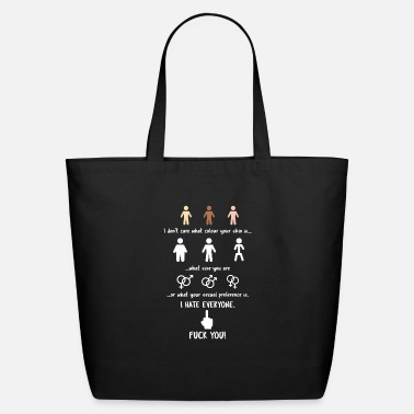 Fuck Off I Hate Everyone Social Phobia Quiet Introvert Gift - Eco-Friendly Tote Bag