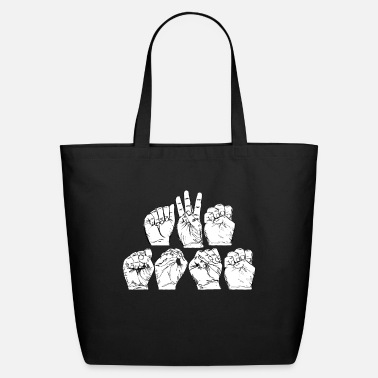 Language Awesome American Sign Language design Gift - Eco-Friendly Tote Bag