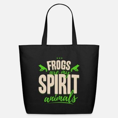 Frog frogs are my spirit animal shirt frog gift idea - Eco-Friendly Tote Bag