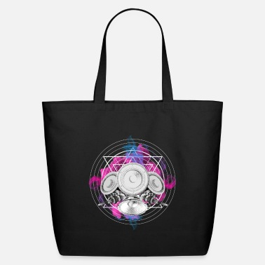 Hardstyle Techno New Wave Speaker Squid Cloud EDM Music Tee - Eco-Friendly Tote Bag